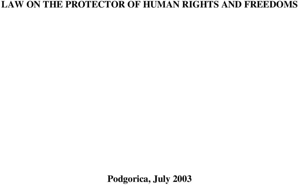 HUMAN RIGHTS AND