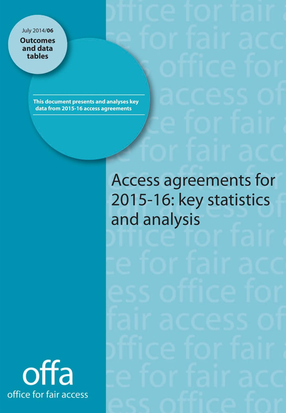 data from 2015-16 access agreements