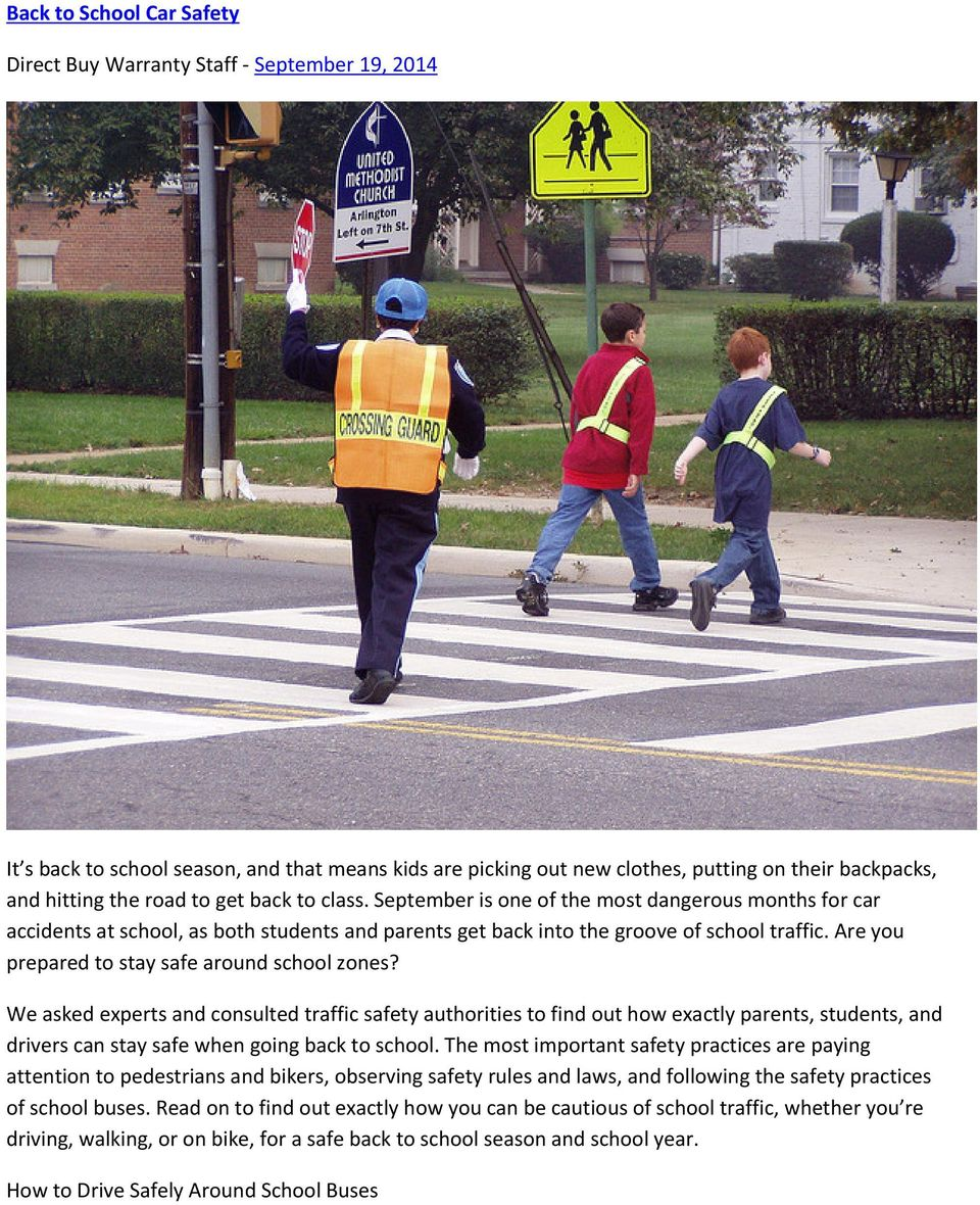 Are you prepared to stay safe around school zones?