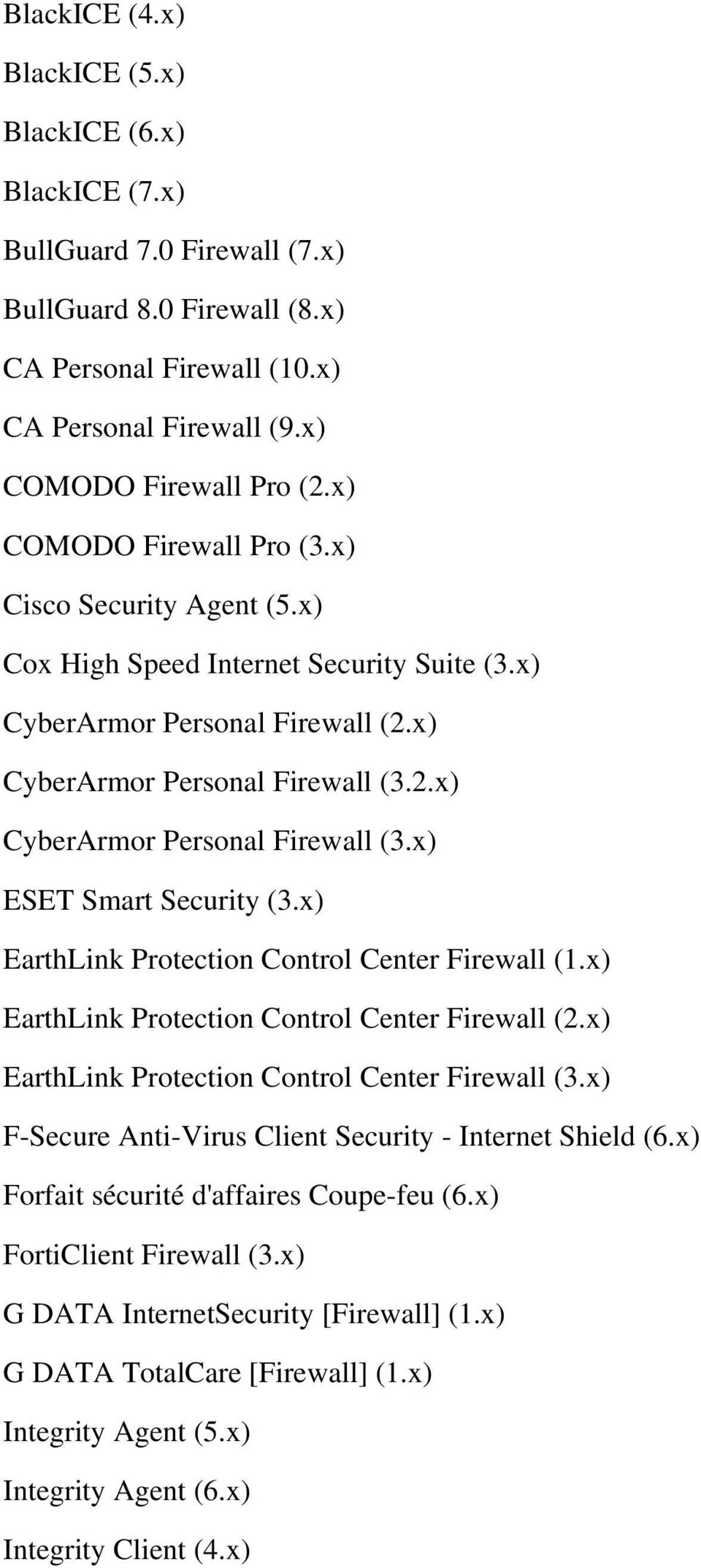 x) EarthLink Protection Control Center Firewall (1.x) EarthLink Protection Control Center Firewall (2.x) EarthLink Protection Control Center Firewall (3.