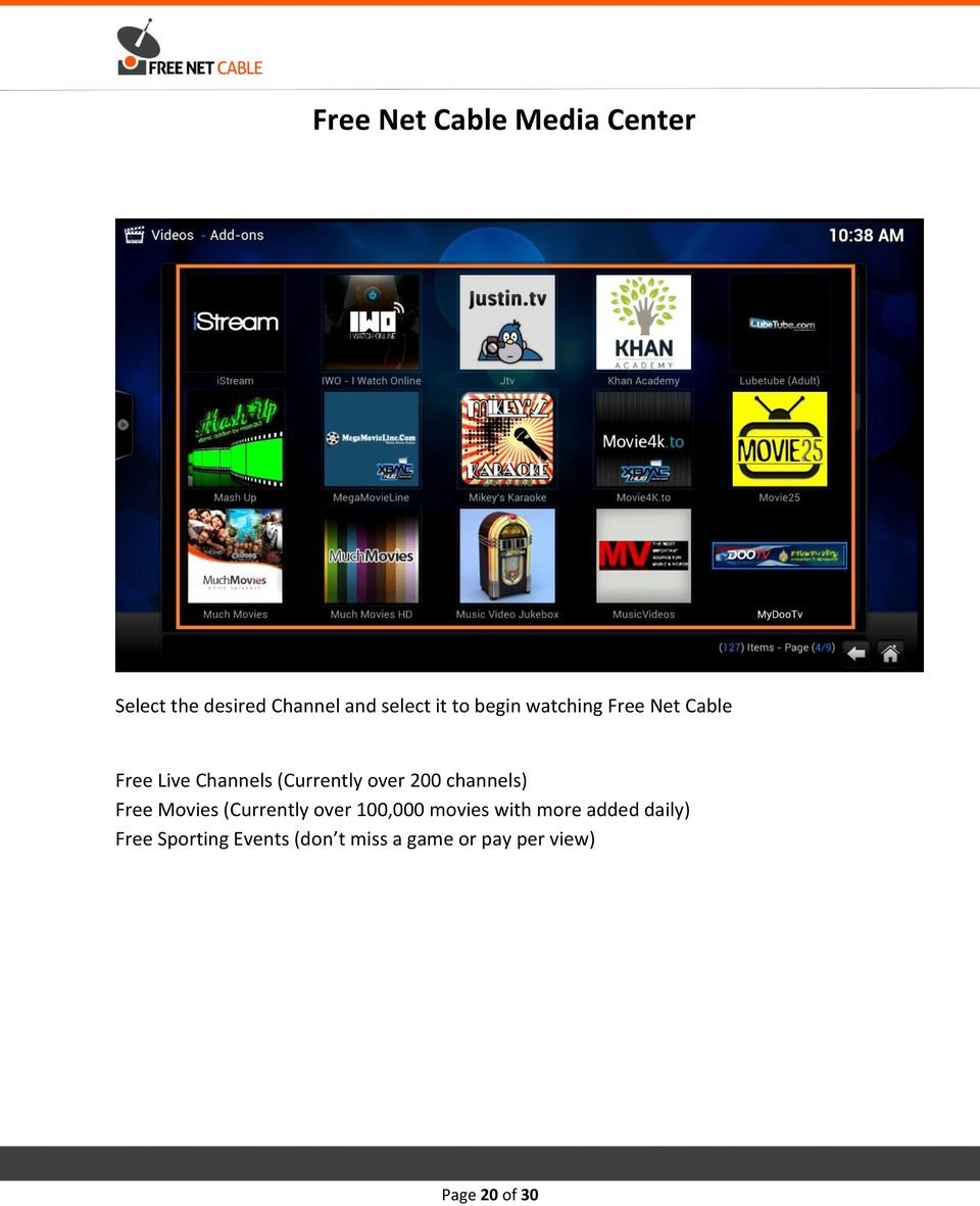 channels) Free Movies (Currently over 100,000 movies with more added