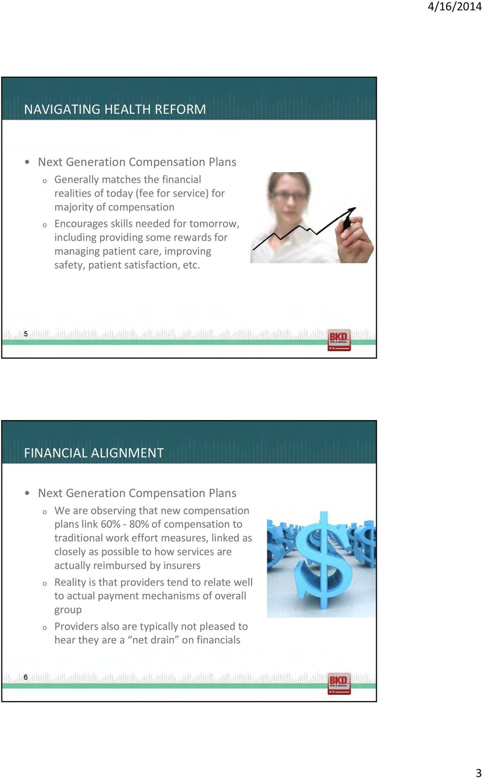 5 FINANCIAL ALIGNMENT Next Generatin Cmpensatin Plans We are bserving that new cmpensatin plans link 60% - 80% f cmpensatin t traditinal wrk effrt measures, linked as