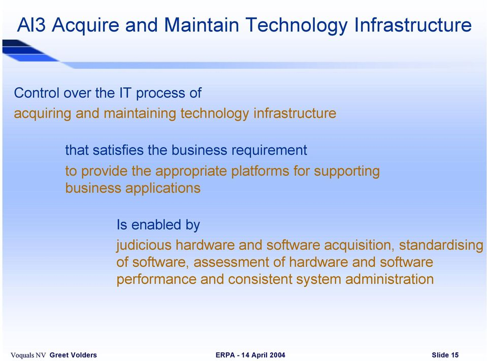platforms for supporting business applications Is enabled by judicious hardware and software acquisition,