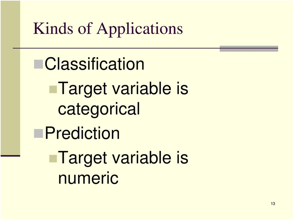 variable is categorical