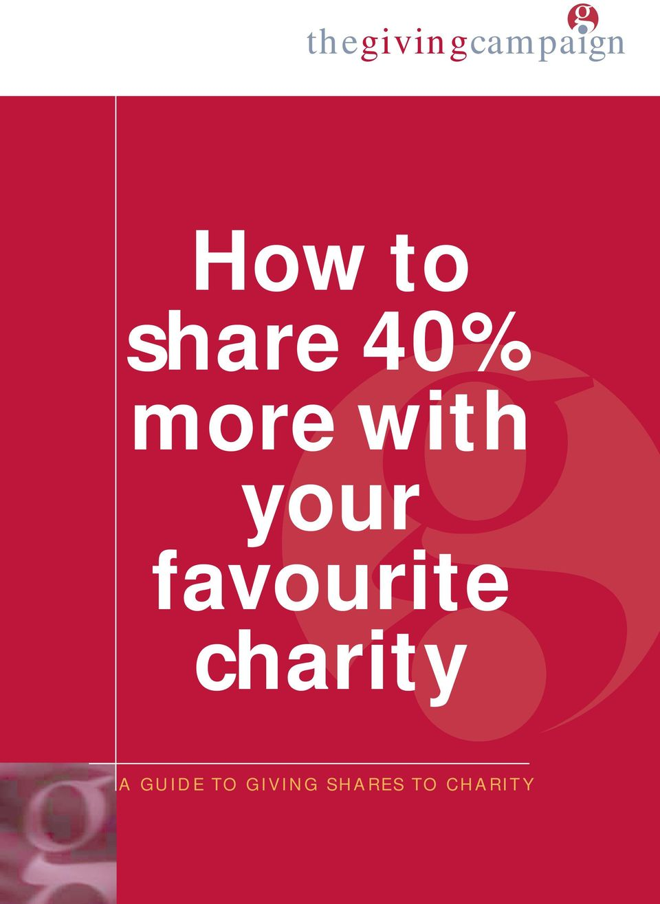 favourite charity A GUIDE