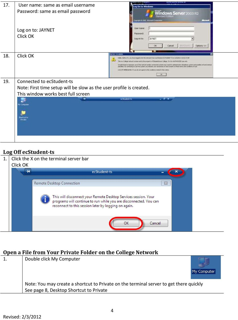 This window works best full screen Log Off ecstudent-ts 1.