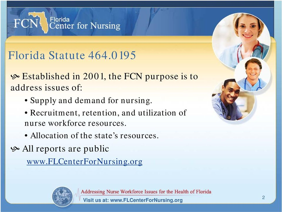 demand for nursing.