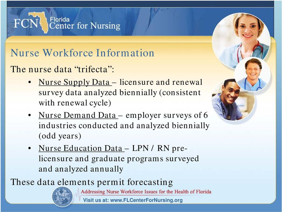 conducted and analyzed biennially (odd years) Nurse Education Data LPN / RN prelicensure and graduate