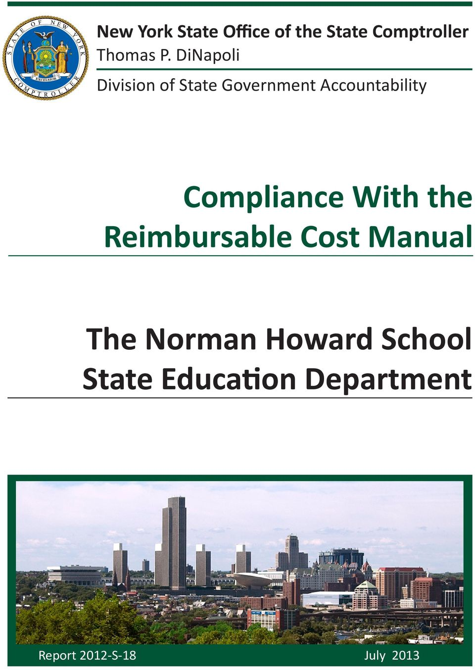 Compliance With the Reimbursable Cost Manual The Norman