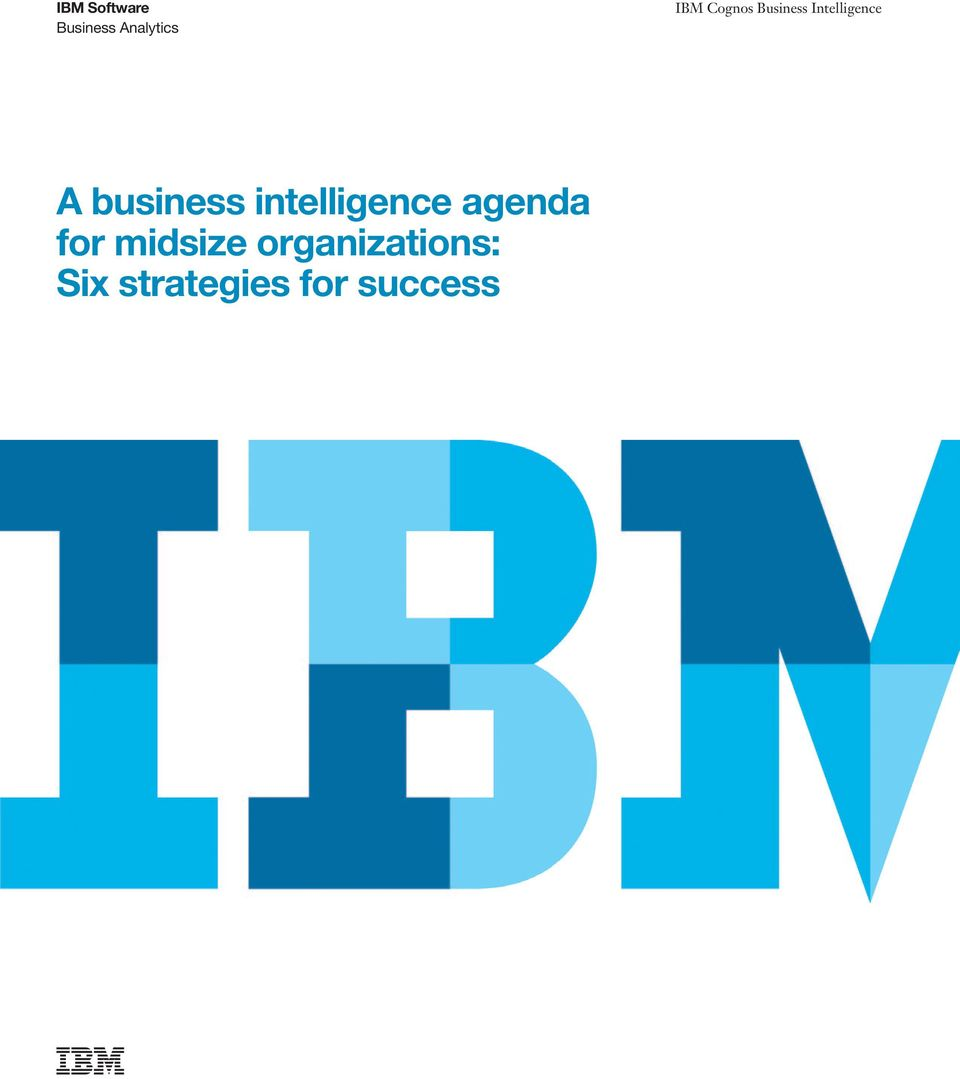 business intelligence agenda for