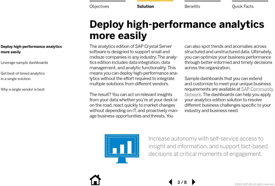 This means you can deploy high-performance analytics without the effort required to integrate multiple solutions from different vendors. The result?