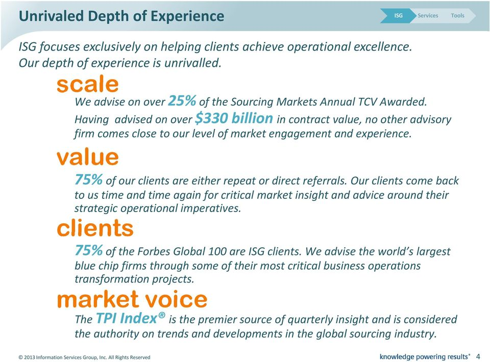 Having advised on over $330 billion in contract value, no other advisory firm comes close to our level of market engagement and experience.