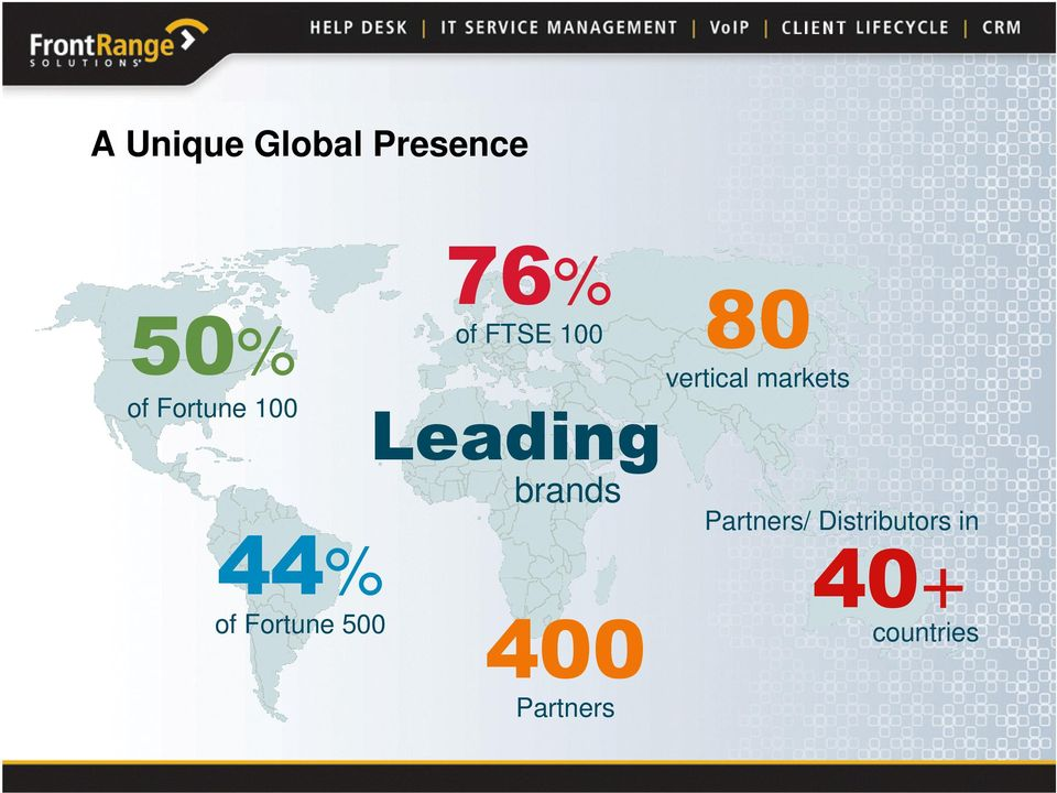 Leading brands 400 Partners 80 vertical