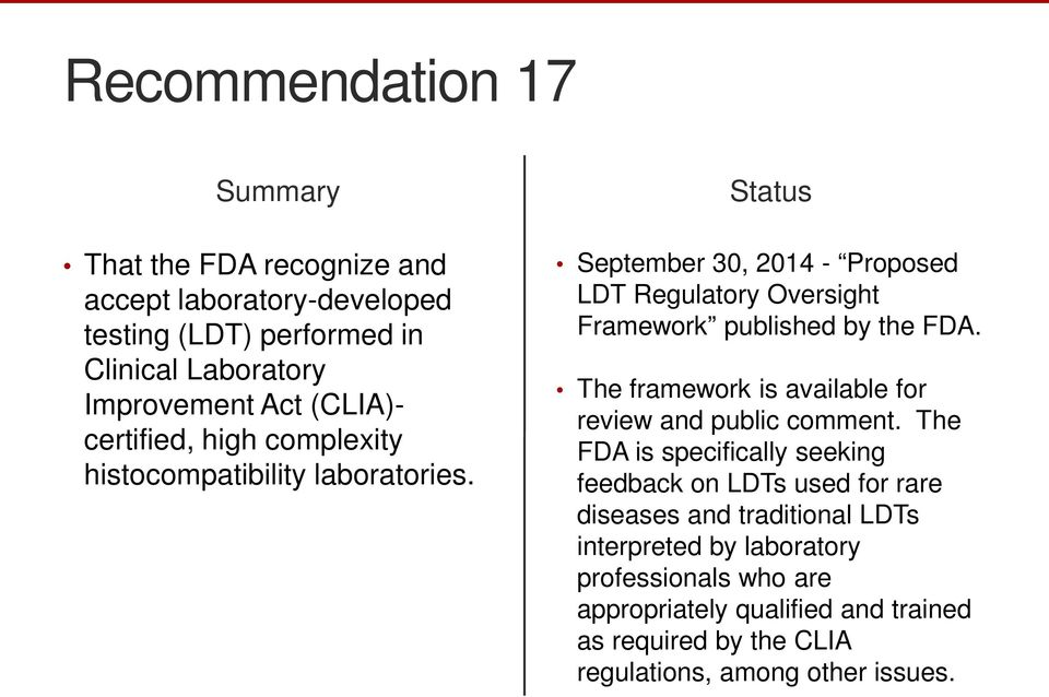 The framework is available for review and public comment.
