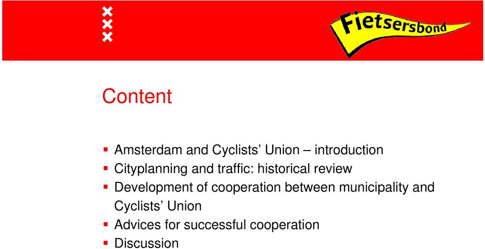 Development of cooperation between municipality and