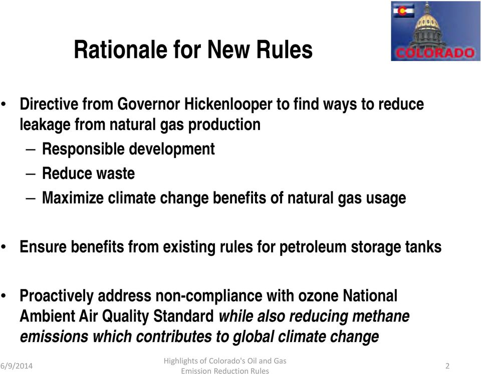 benefits from existing rules for petroleum storage tanks Proactively address non-compliance with ozone National