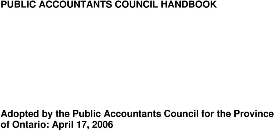 Accountants Council for the