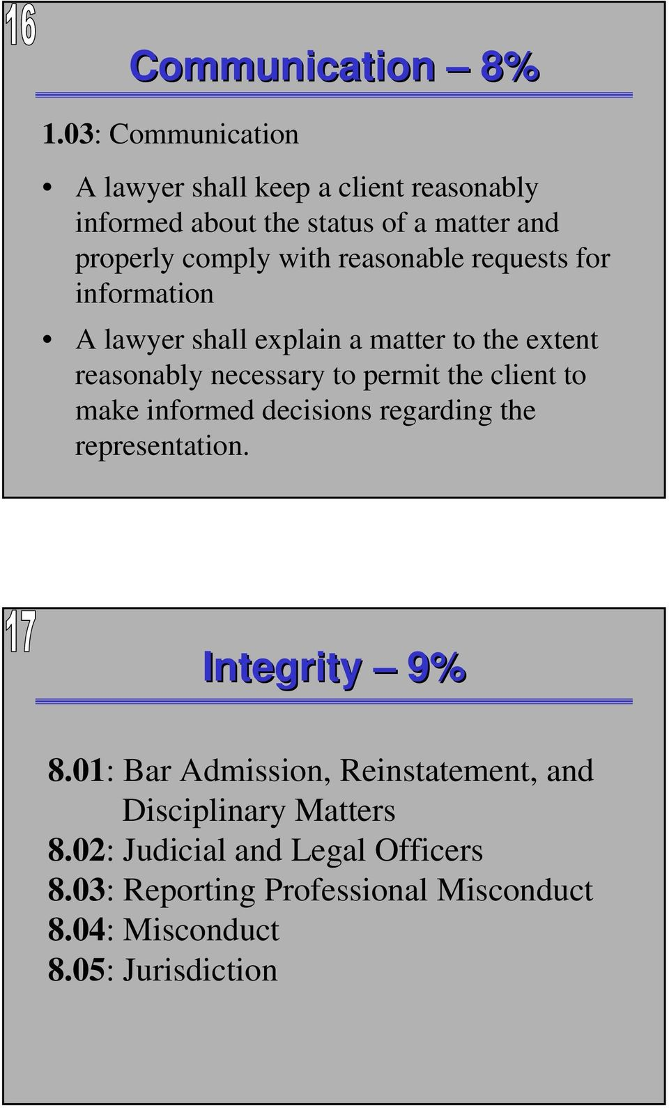 reasonable requests for information A lawyer shall explain a matter to the extent reasonably necessary to permit the client