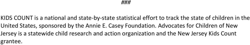 E. Casey Foundation.