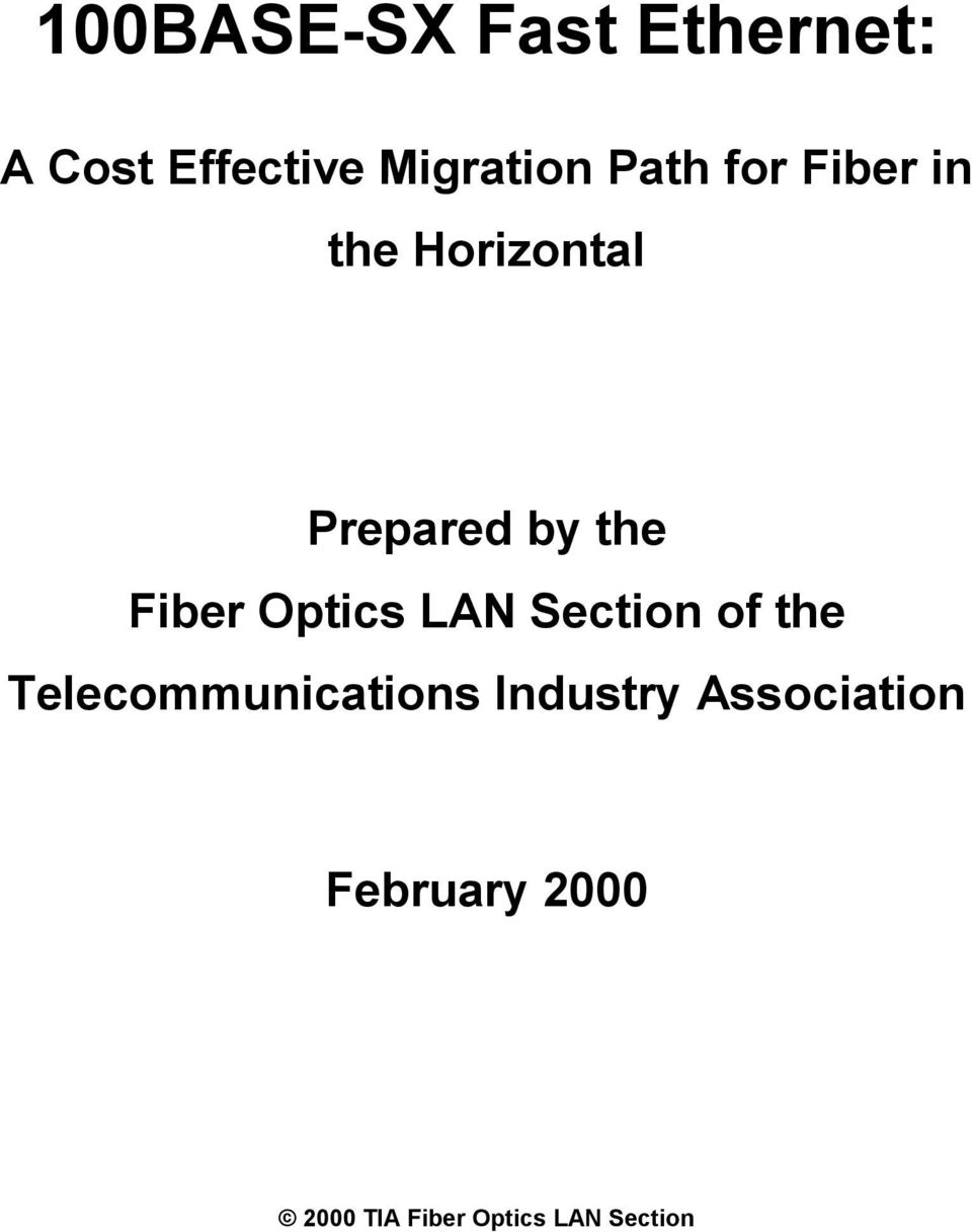 Optics LAN Section of the Telecommunications Industry