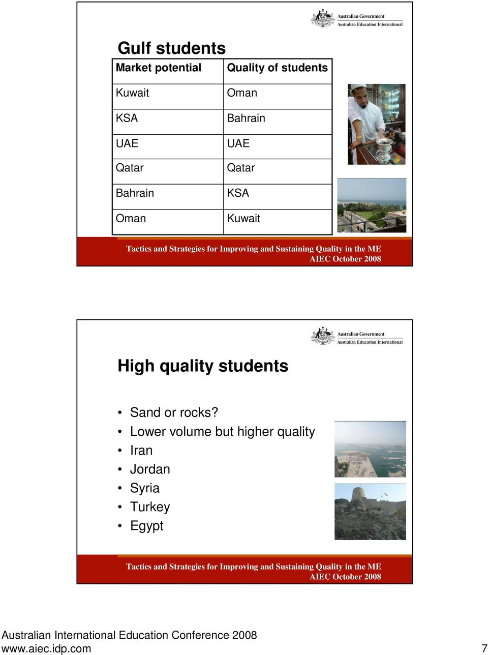 Kuwait High quality students Sand or rocks?