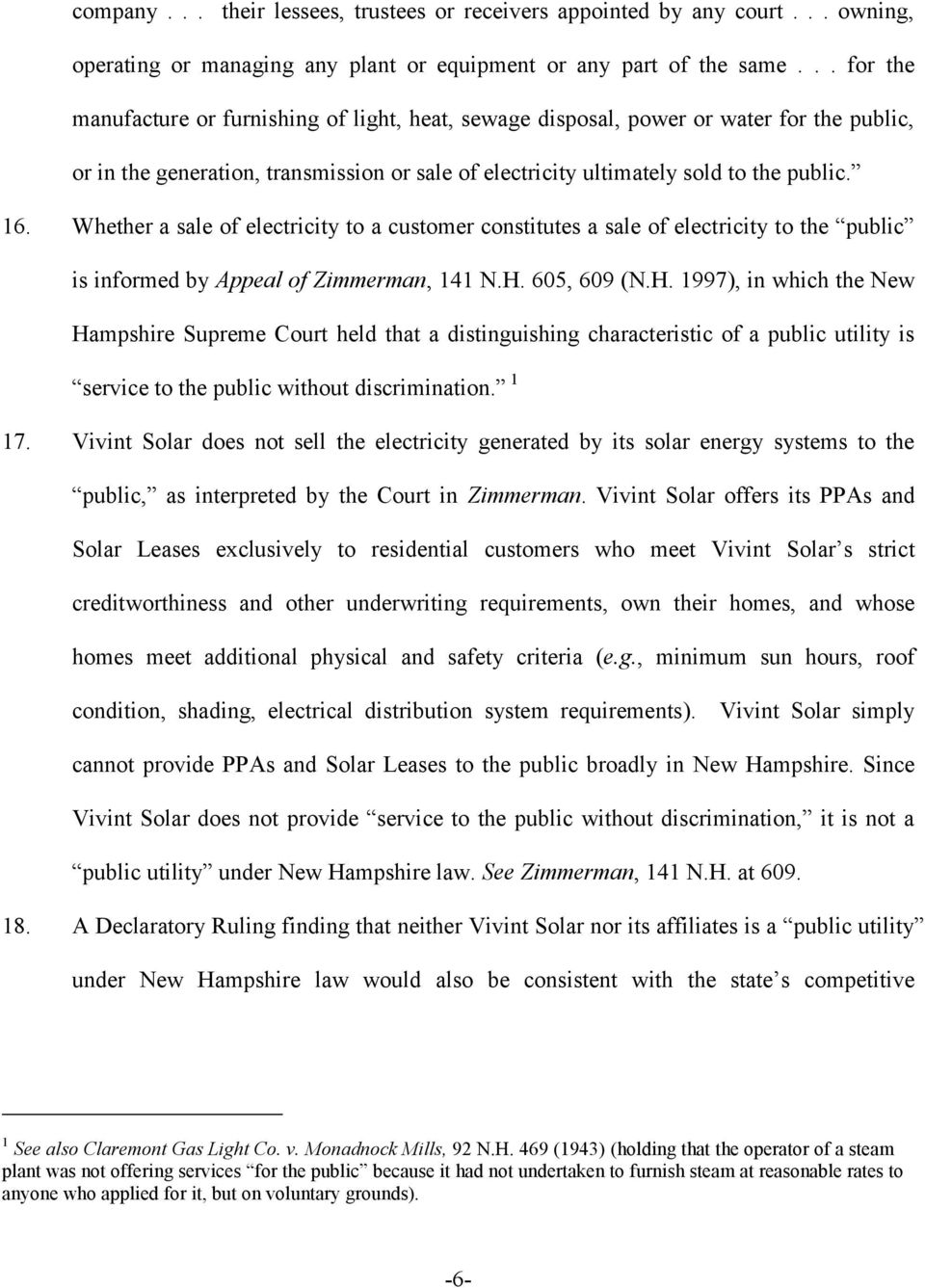 Whether a sale of electricity to a customer constitutes a sale of electricity to the public is informed by Appeal of Zimmerman, 141 N.H.