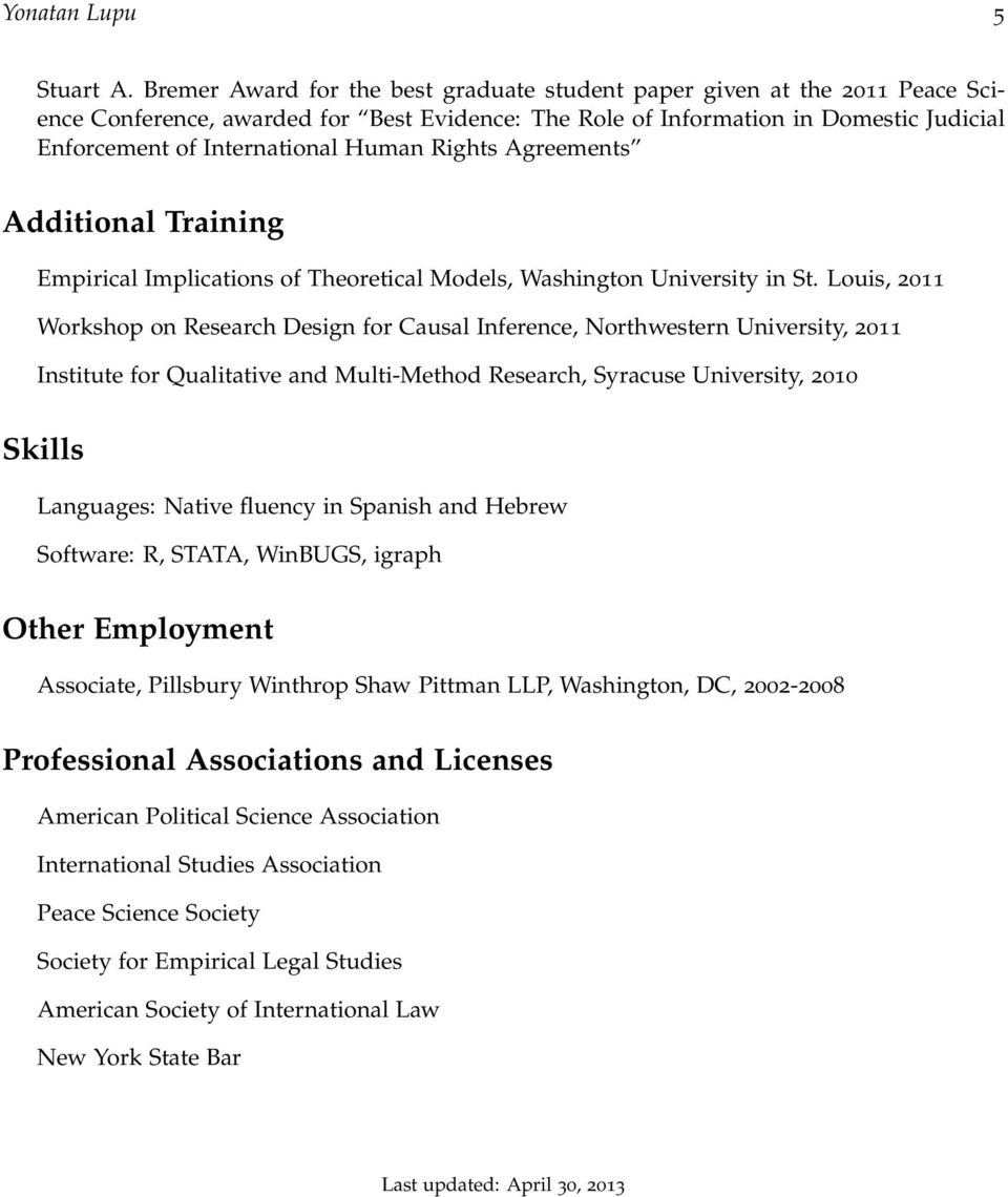 Rights Agreements Additional Training Empirical Implications of Theoretical Models, Washington University in St.