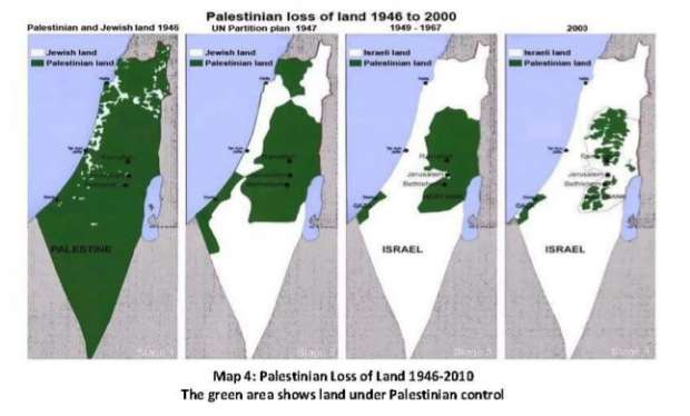 This Hamas propaganda map which shows Israel occupying Palestinian land is a genocidal lie designed to help finish the job that Hitler started.