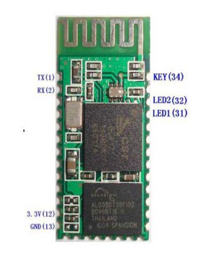 Bluetooth device HC-05 It is designed for transparent wireless serial connection.
