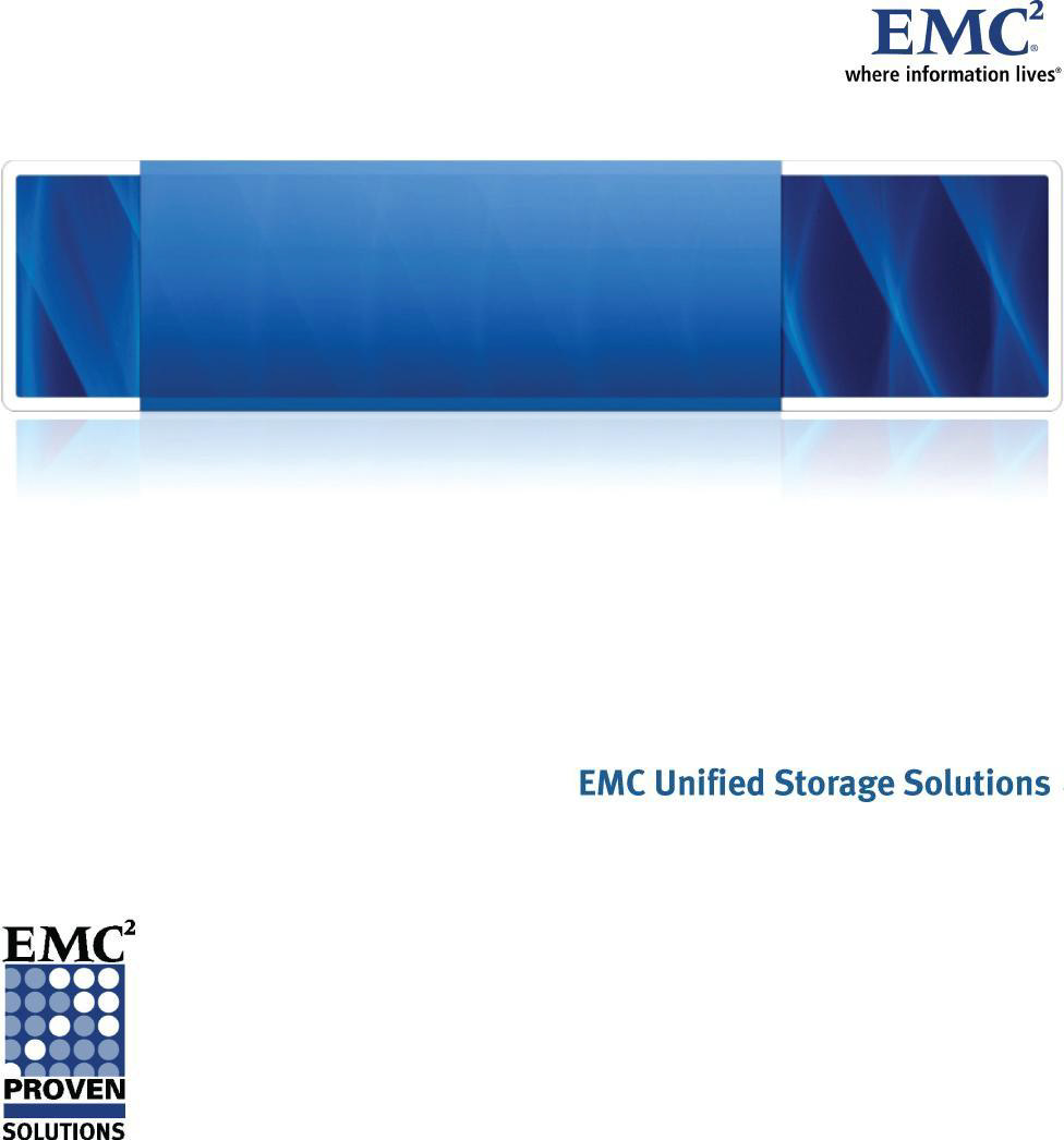 EMC Infrastructure for Virtual