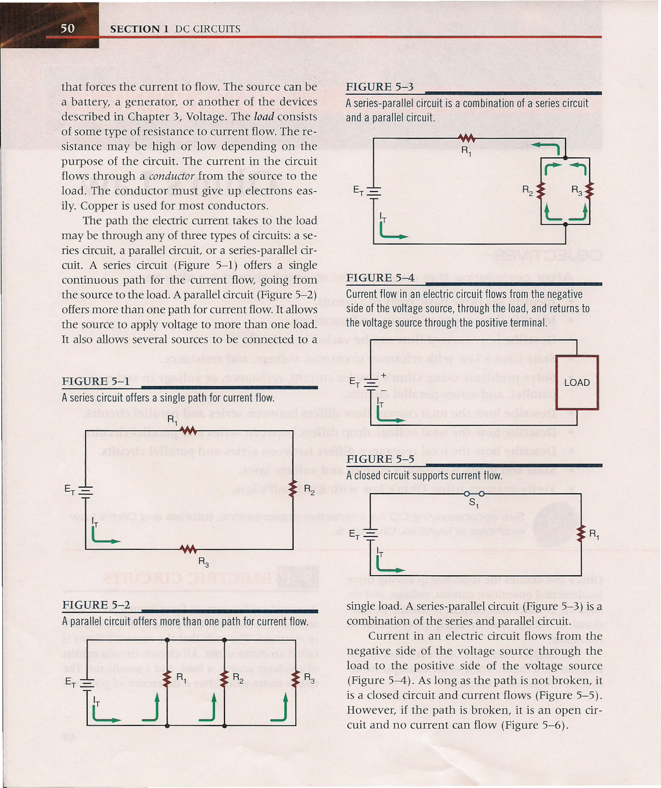 Mi Electric Circuits Pdf Series Circuit With A Voltage Source Such As Battery Or In This Section 1 Dc That Forces The Current To Flow Can Be