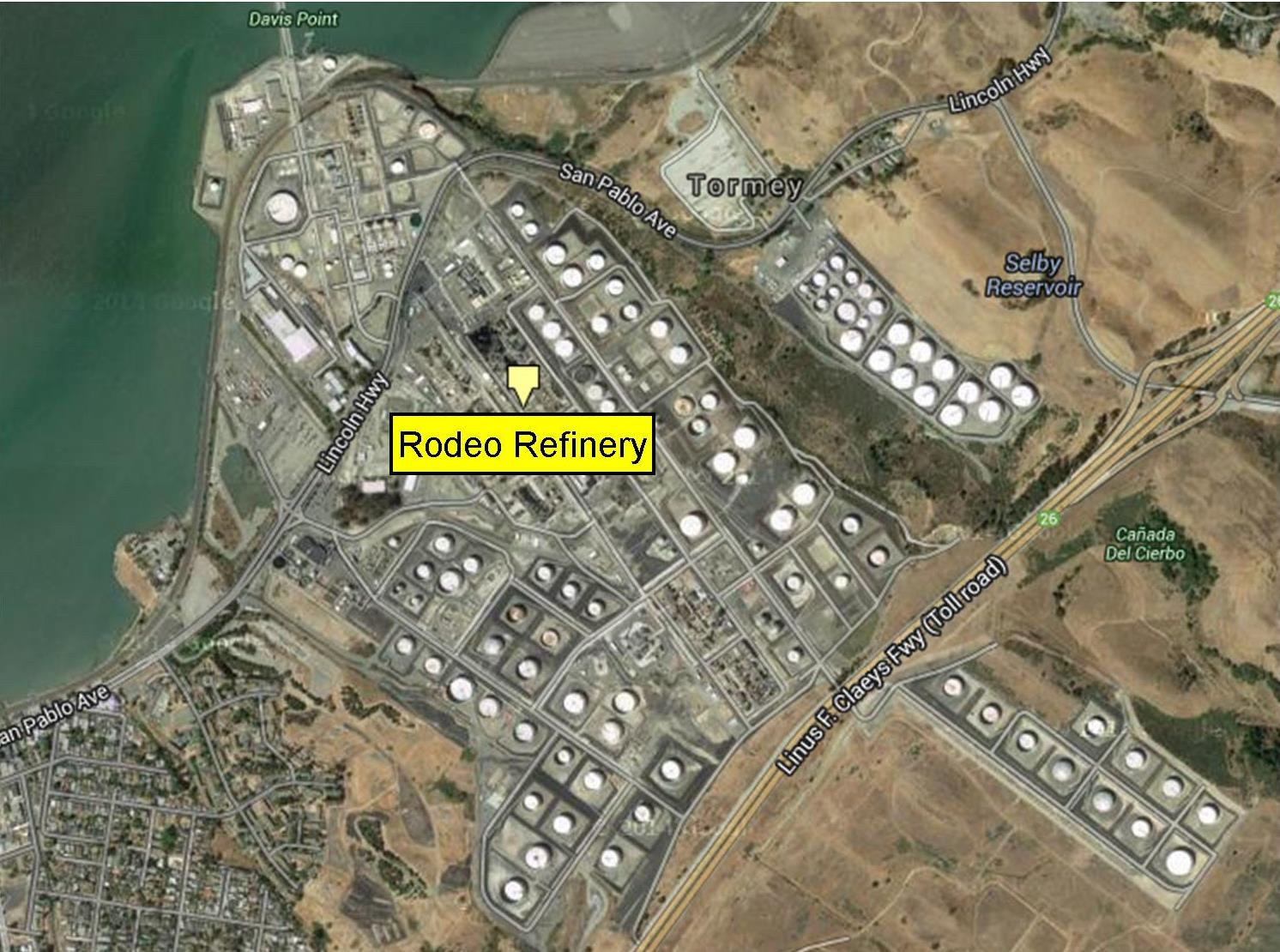 4. ConocoPhillips/Rodeo San Francisco Refinery The refinery in Rodeo was the first of the five major oil refineries now operating on the shores of the Bay Area.