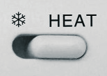 at the place where the thermostat has been installed can be set in steps of 0.5 C.