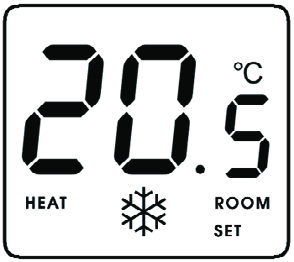 The switching sensitivity of the thermostat is ± 0.2 C (± 0.3 C).