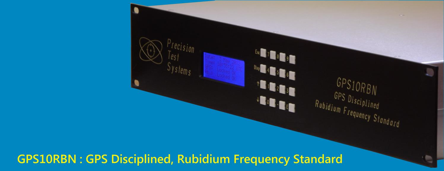 GPS10RBN: 10 MHz, GPS Disciplined, Rubidium Frequency Standard - PDF