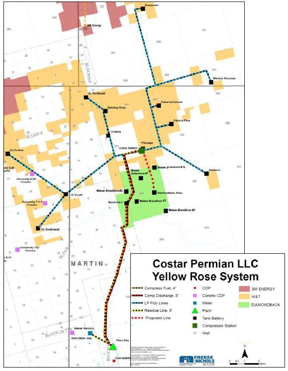 East Texas and Permian Assets East Texas Systems Permian System (Yellow Rose) Two processing plants and gathering systems operating in the East Texas Basin Longview Plant: 55 MMcf/d Capacity with