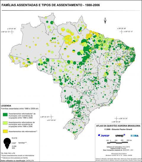 Landless movement and agrarian reform More than 800,000 families in Amazon Each family can