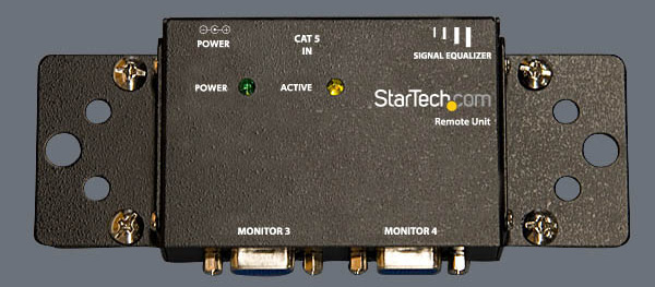 OPTIONAL: with the optional mounting brackets (StarTech.com ID: ST121MOUNT), any ST121 series receiver can be securely mounted to a wall or other surface. 5.