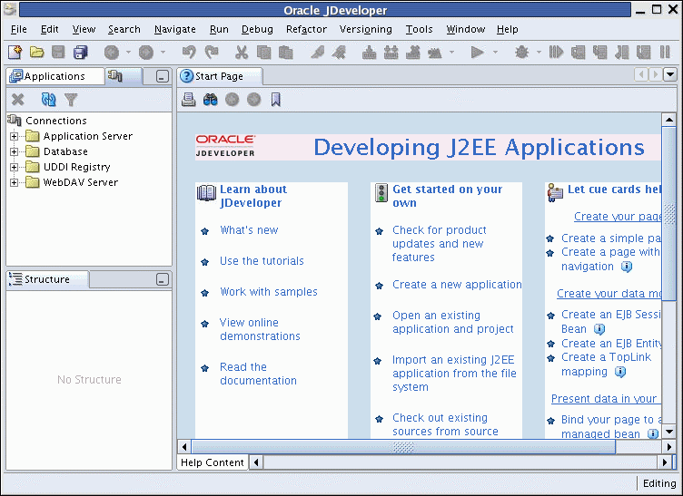 PL/SQL Programming Environments Oracle JDeveloper PL/SQL Programming Environments Oracle JDeveloper: An integrated development environment (IDE) that provides end-to-end support for building,