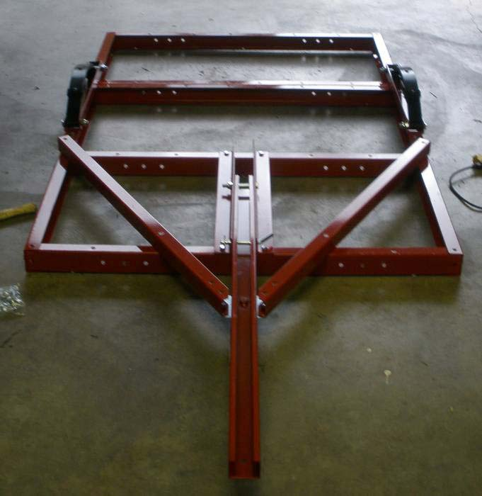 Building Frame Bolt : Shortening a bolt together folding utility trailer to