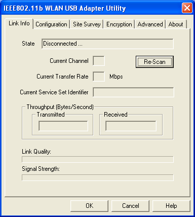 Use Wireless LAN Utility In Windows 98, ME and 2000 Wireless LAN Utility icon Icon Meaning Green: indicates a connection is linked to a wireless network.