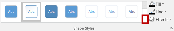 5. Release the shape at the desired location. Deleting a Shape Figure 56 - Moved Shape & Connector 1. Click the shape to select. 2. Press the Delete key. Formatting a Shape 1.