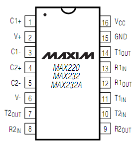 MAX232 MAX232 is used as USB-serial