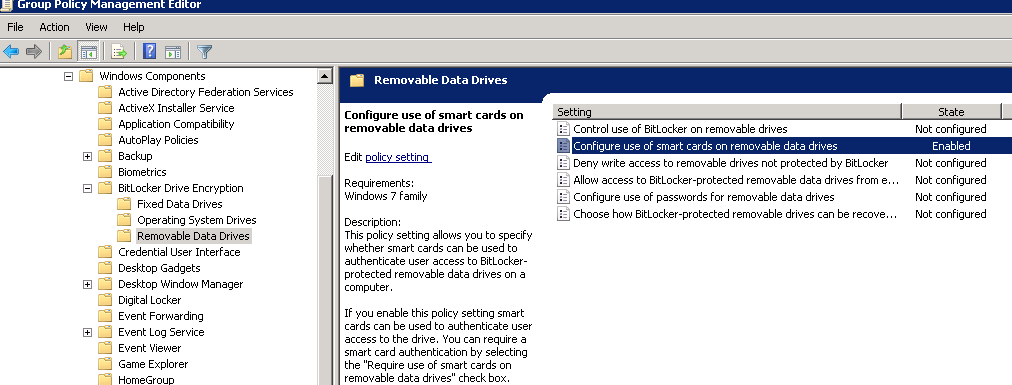 Bitlocker configuration for working with safenet smart cards pdf group policy configurations 11 2 yadclub Images
