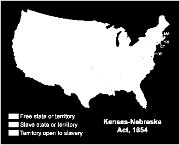 Douglas proposed to divide the territory into 2 separate territories, Kansas and Nebraska. In each territory the settlers would decide on the issue of slavery.