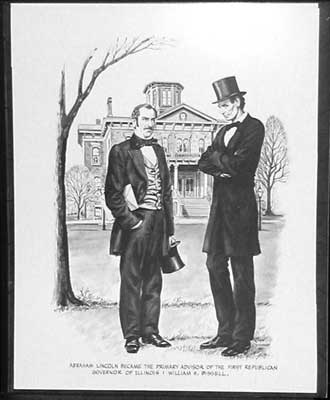 Part 5: A Nation Divides In 1860, Lincoln was chosen to run as the Republican candidate for President of the United States against Stephen Douglas.