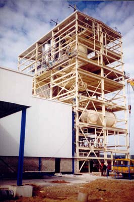 Elements loaded by axial force Multi-storey building The columns of a multi-storey buildings are typical example of structural elements loaded in compression.