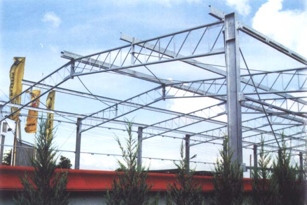 Elements loaded by axial force Trusses of a single-storey industrial building 7