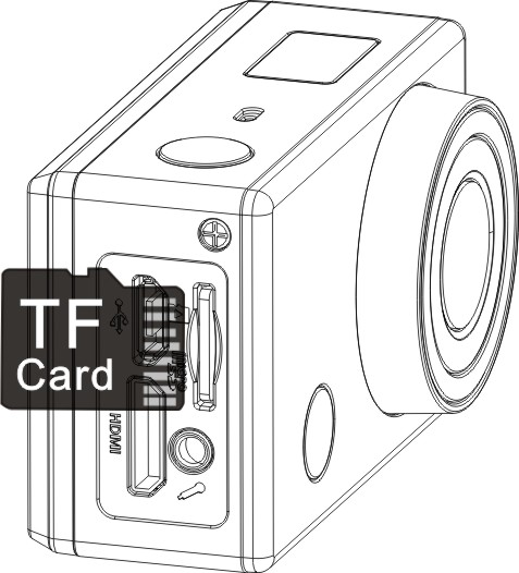In video mode, press the Shutter button to start recording, LED flash, and press it again to stop; In camera mode, press the Shutter button to take photo.