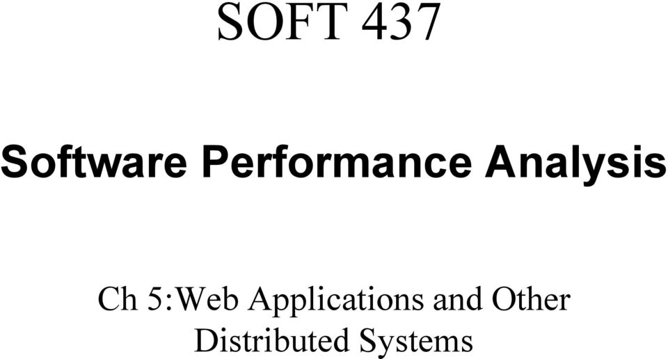 Ch 5:Web Applications